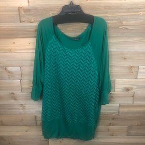 ❤️ Alyx Woman Green dolman t shirt Size 1X ❤️